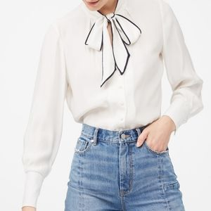 🌼 NWT Rebecca Taylor silk blouse with bow